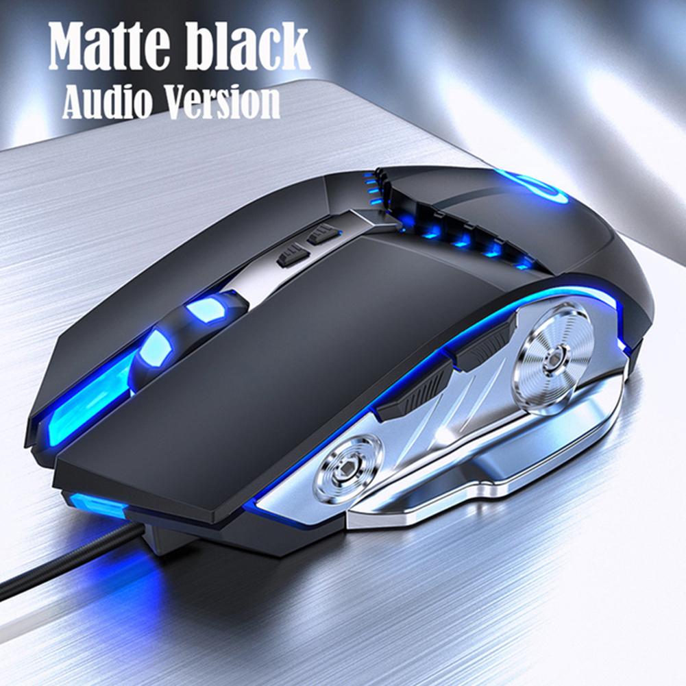 G3PRO Gaming Mouse 3200dpi Adjustable Silent Mouse Optical LED Usb Wired Computer Mouse Matte black silent version