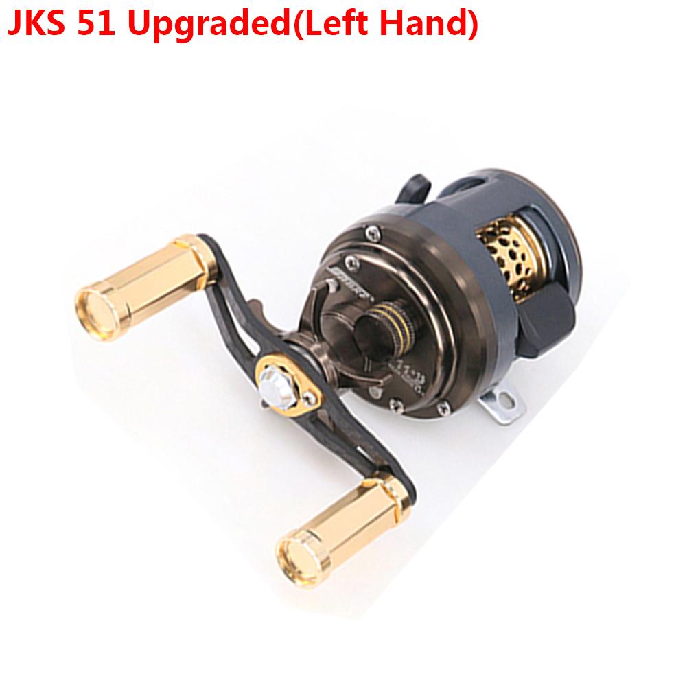 DEUKIO 11+1 Bearings Round Profile Baitcast Reel Light Lure Casting Reel For Stream Trout Fishing Left/Right Hand Optional JKS 51 upgrade (left hand)
