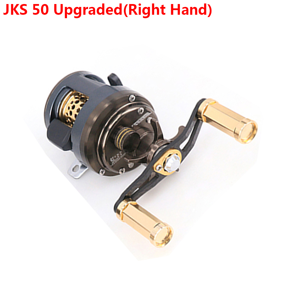DEUKIO 11+1 Bearings Round Profile Baitcast Reel Light Lure Casting Reel For Stream Trout Fishing Left/Right Hand Optional JKS 50 upgrade (right hand)