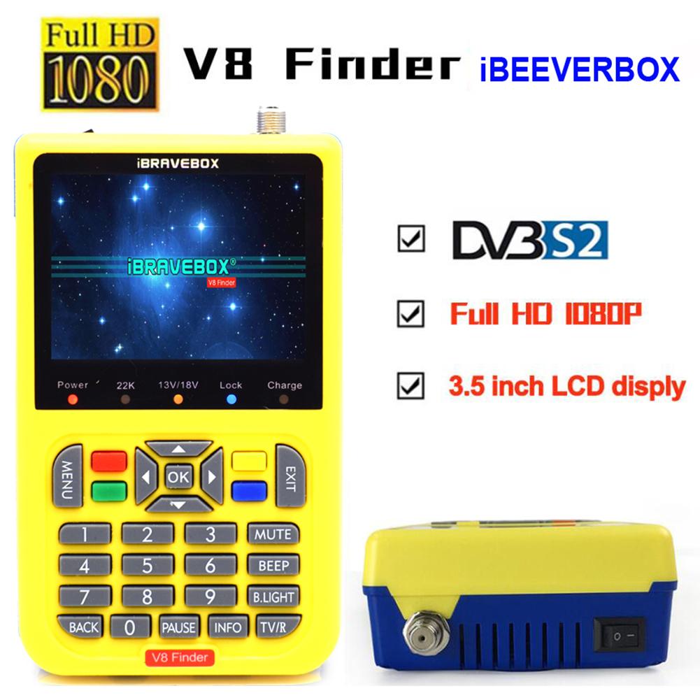 iBRAVEBOX V8 Finer HD DVB-S2 Satellite Finder MPEG-2 MPEG-4 Better Finder Meter yellow