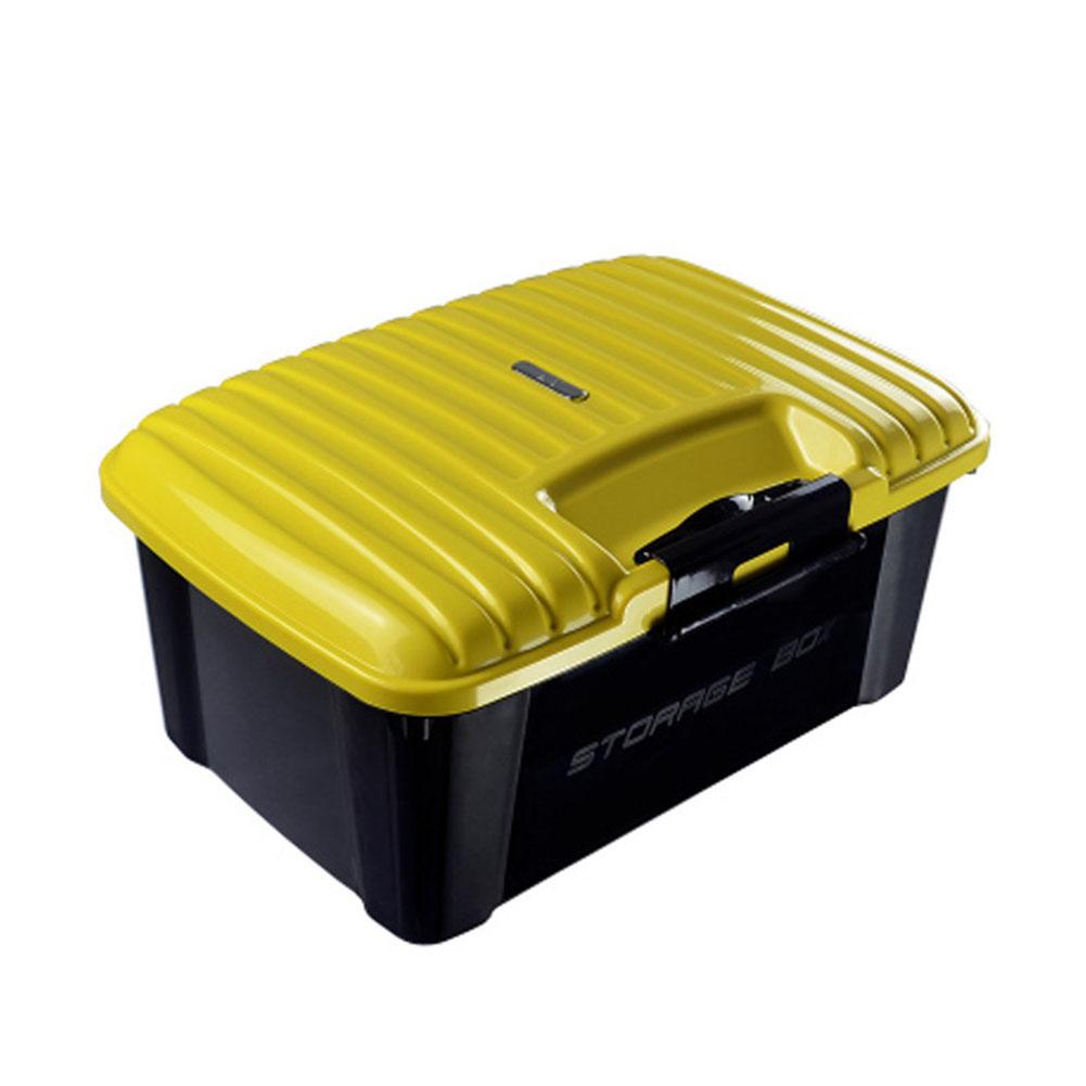 Car Trunk Organizer Box Storage Bag Auto Trash Tool Bag Large Cargo Storage Stowing Tidying Car Accessories Yellow _51*38*24cm