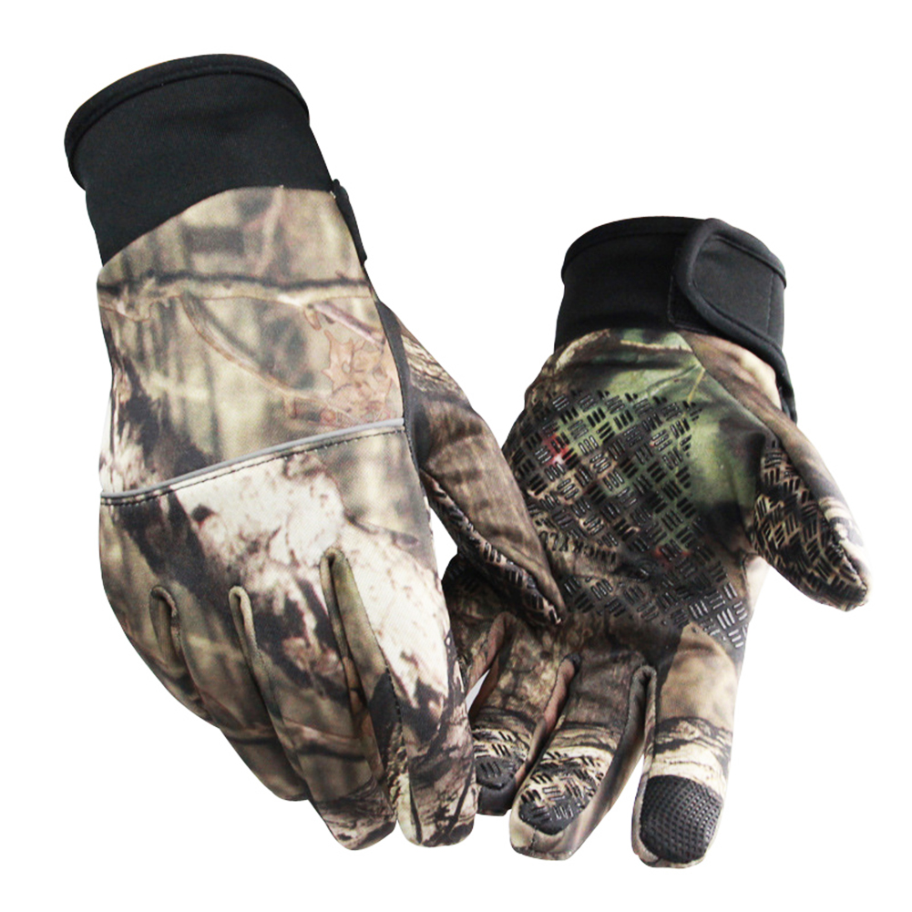 Unisex Camouflage Screen Touch Gloves Winter Anti-slip Outdoor Sporting Camping Hunting Gloves L
