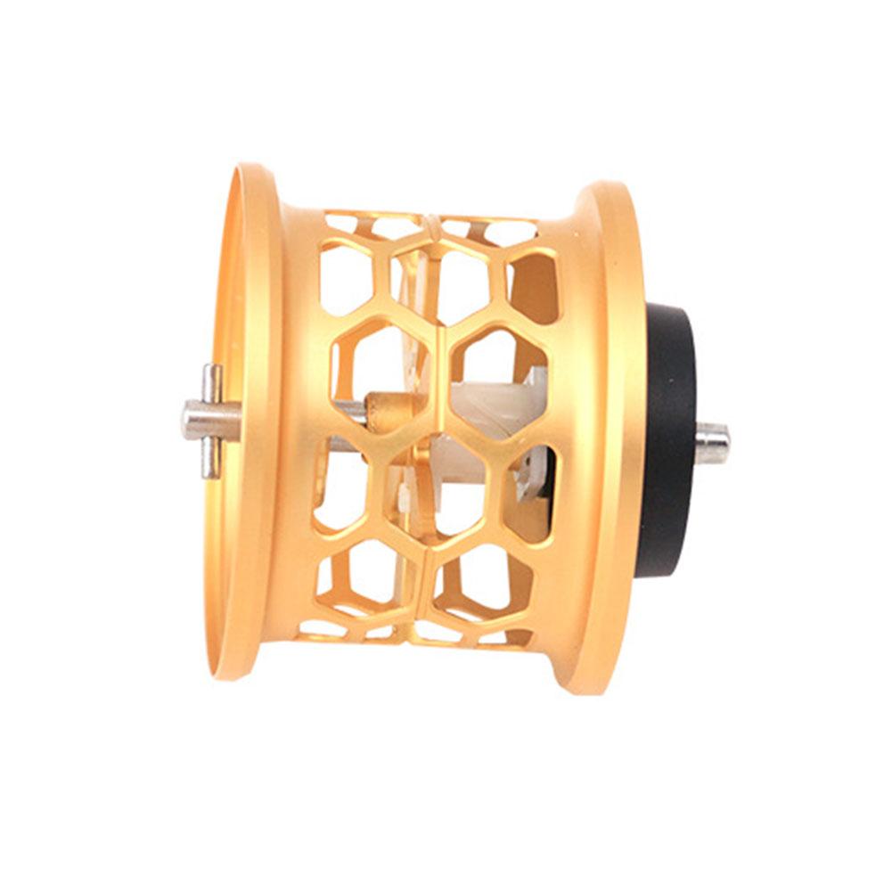 DIY Spare Spool Full Metal Refit Honeycomb Fishing Reel Spool Golden