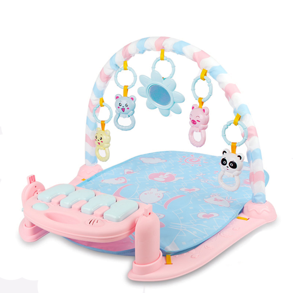 Play Mat Baby Carpet Music Puzzle Mat With Piano Keyboard Educational Rack Toys Infant Fitness Crawling Mat pink