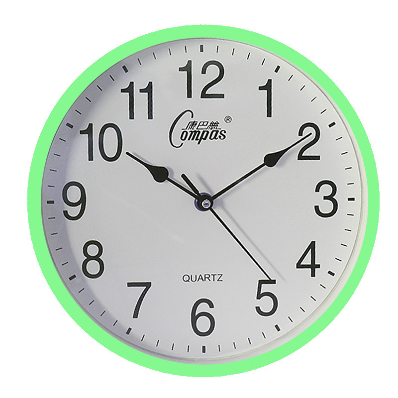 10inch Wall Clock Round Mute Quartz Clock Fashion Living Room Home Office Decoration green
