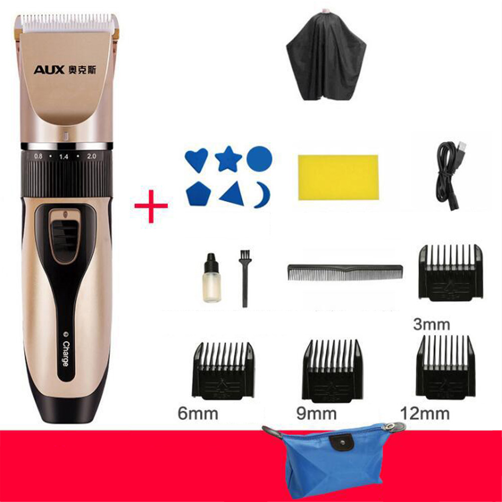 USB Rechargeable Hair Clipper Mute Cutting Machine for Pet Adults Infants Baby Kids Hair  Standard