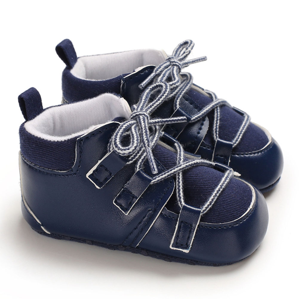 0-1 Years Baby Infant Boys Soft Sole Fashion Baby Shoes Casual Sports Shoes blue_13 cm inside length