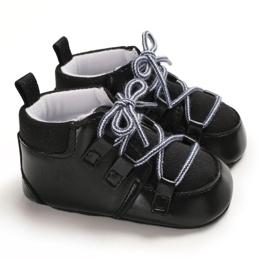 0-1 Years Baby Infant Boys Soft Sole Fashion Baby Shoes Casual Sports Shoes black_Inside length 11 cm