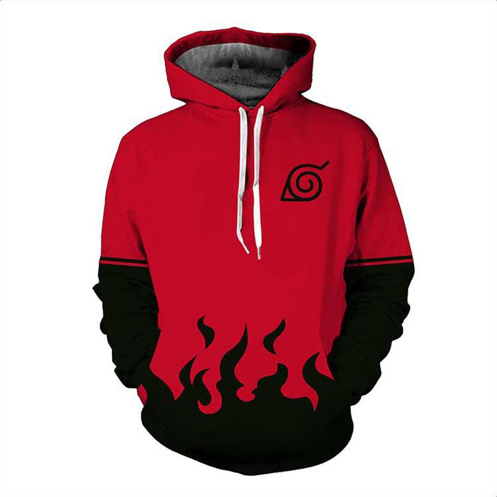 3D Digital Fashion Printing Thin Model Male Hoodie Seven Generations Naruto Sweatshirt_M