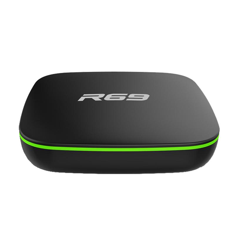 R69 Android 7.1 Smart TV Box 1GB+8GB Quad Core WIFI H.265 4K Video Media Player UK plug