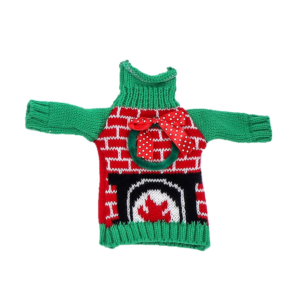 Knitted Christmas Wine Bottle  Cover Household Decoration Bottle Protective Bag Garland