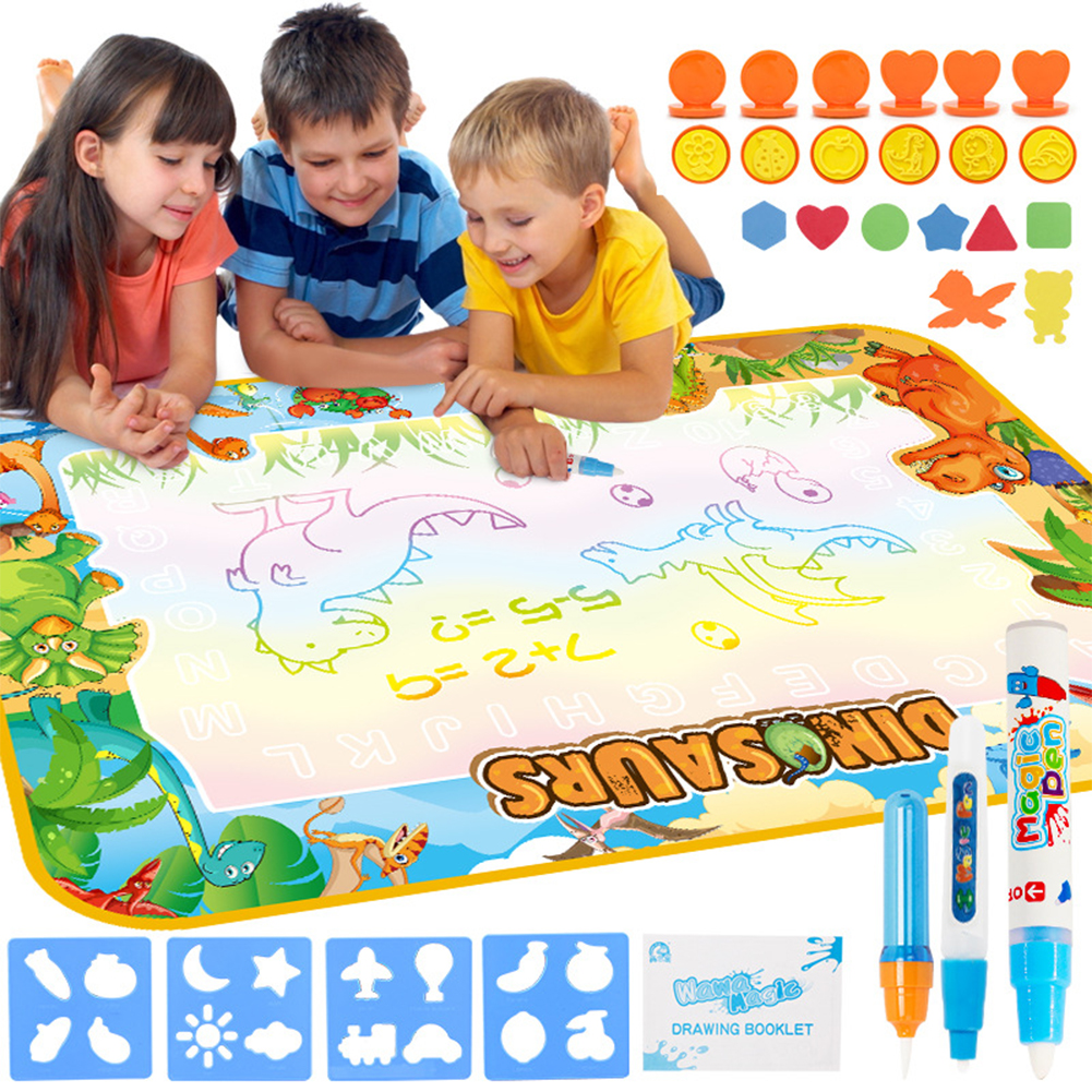 Children  Water  Canvas Magic Pen Drawing Pad Creative Graffiti Painting Carpet Toy Standard 2: Canvas with picture + box