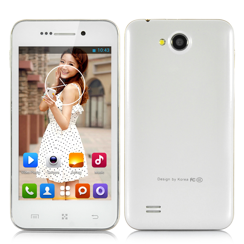 4 Inch Dual Core Android Smartphone (White)