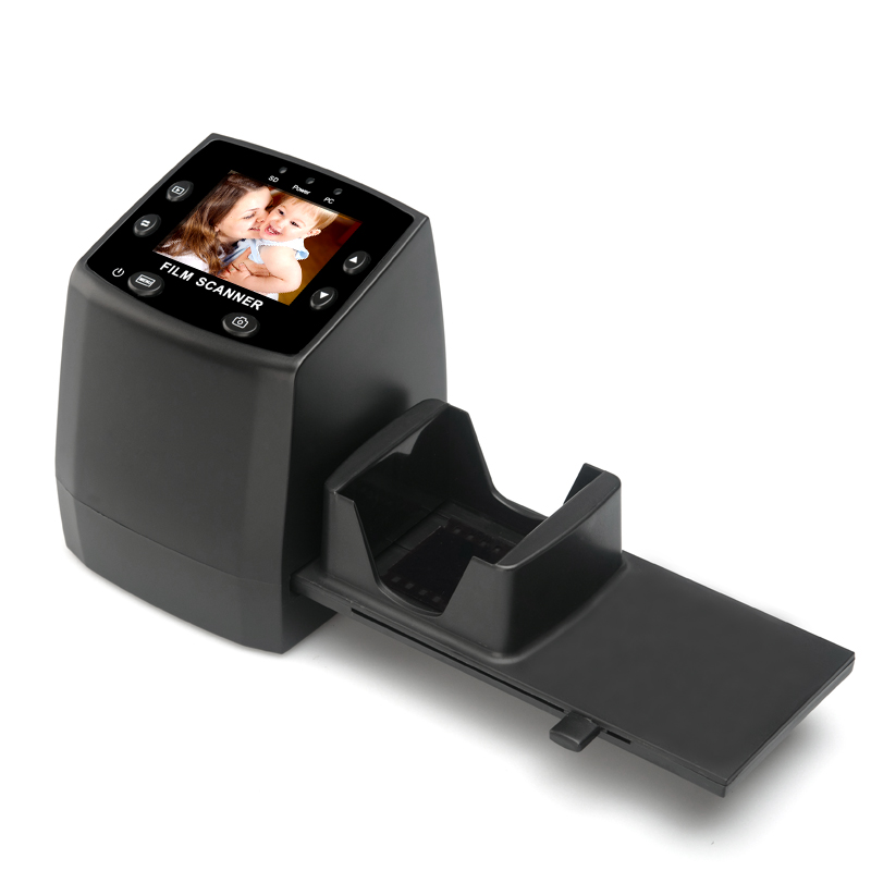 5MP Film Scanner - 2.4 Inch Display, TV Out, 32GB SD Card Support, Preview, Playback And Editing Features