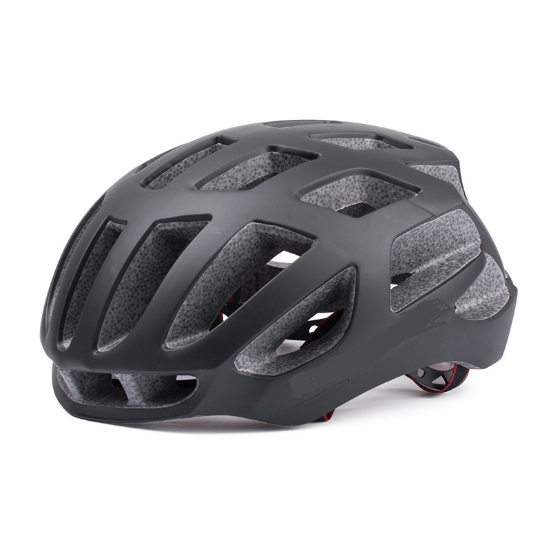 Riding Helmet Eps Protective Helmet For Road Bike Ultralight Bicycle  Helmet Pure black