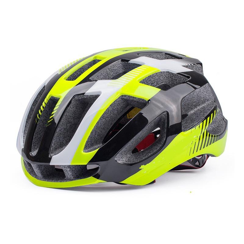 Riding Helmet Eps Protective Helmet For Road Bike Ultralight Bicycle  Helmet Green and black