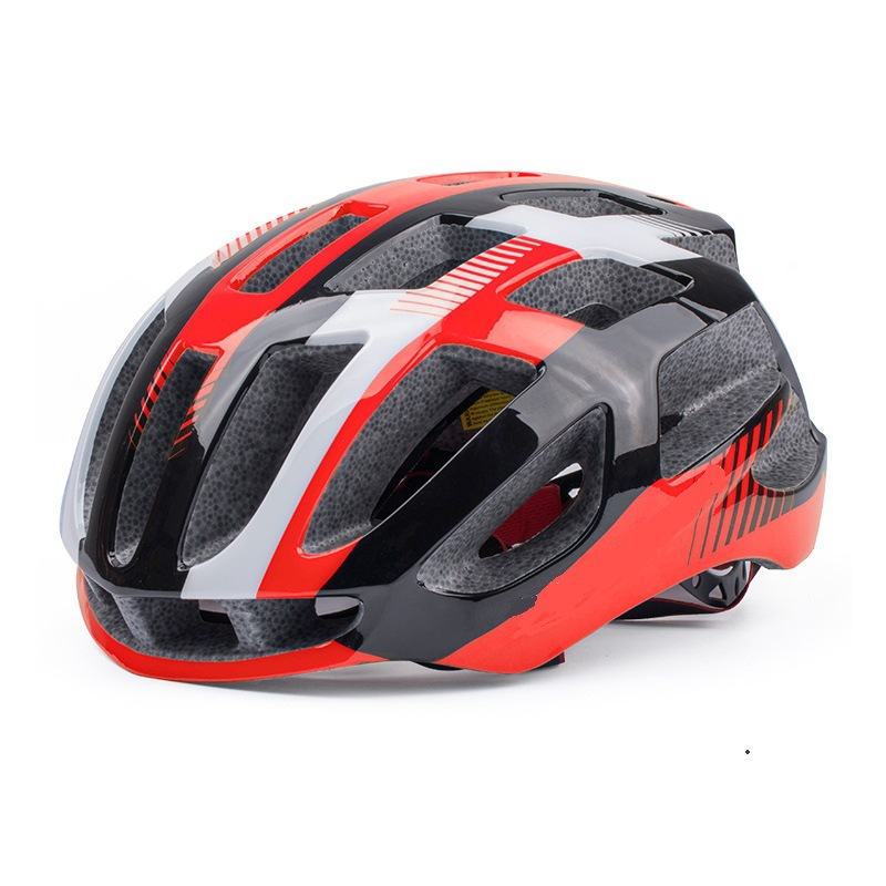 Riding Helmet Eps Protective Helmet For Road Bike Ultralight Bicycle  Helmet Red black