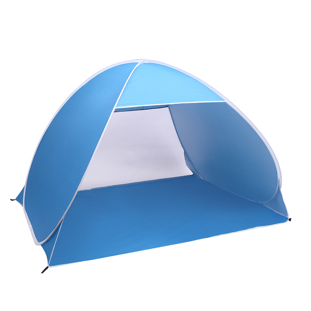 [US Direct] Automatic Opening Camping  Tent Beach Shelter Sunscreen Tent For Outdoor Fishing Activities Blue