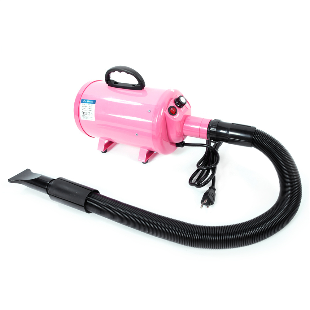 [US Direct] Stl-1902 120v 2800w Pet Groomming Blow Hair  Dryer Dog Cleaning Accessories Pink