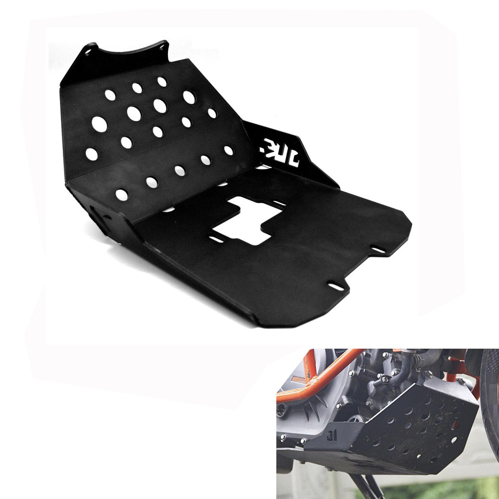 Aluminum Motorcycle Engine Guard Protector Skid Plate For KTM DUKE 390 13-16 black