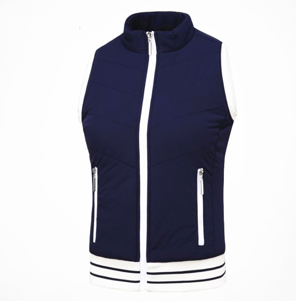Golf Clothes for Women Vest Thicken Simier Warm Sport Vest Golf Suit Plus vest [cyan]_S