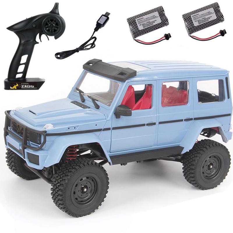 Mn-86b  2.4g  Four-wheel  Drive  Remote  Control  Car 1:12 Simulation G500 Remote Control Car Rtr Version Model Toy 2 battery