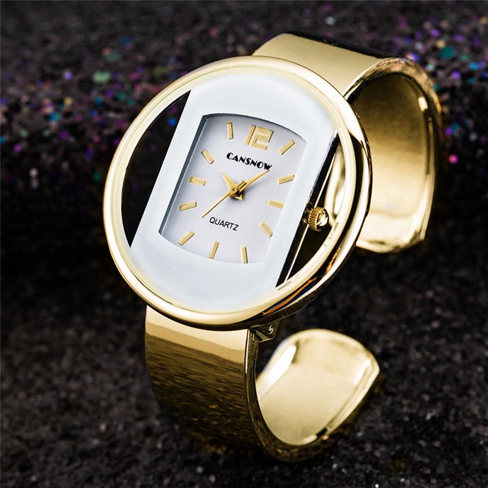 Women Ladies Luxury Bracelet Watch Quartz Movement Pointed Stainless Steel Strap Wristwatch 6#