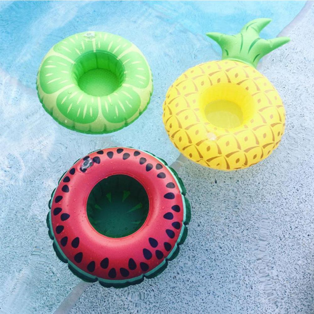 [EU Direct] Inflatable Pool Float Drink Holder Watermelon Lemon Pineapple Shape Cup Holder for Kids Bath Pool Parties
