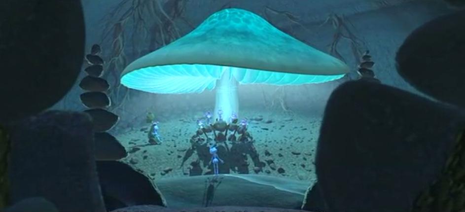 [EU Direct] Pretty Mushroom-Shaped LED Night Light with Light Sensor Control (NL-05)