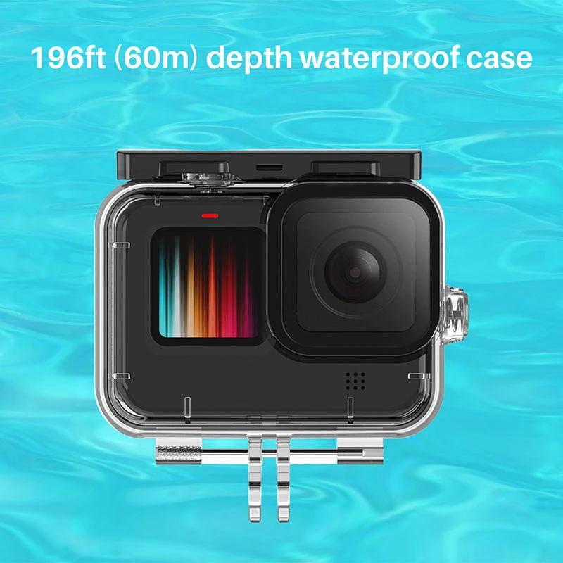 60M Waterproof Case diving Case for Ulanzi G9-7 Gopro Hero 9 Underwater Shot Housing Case Cage Accessories Transparent