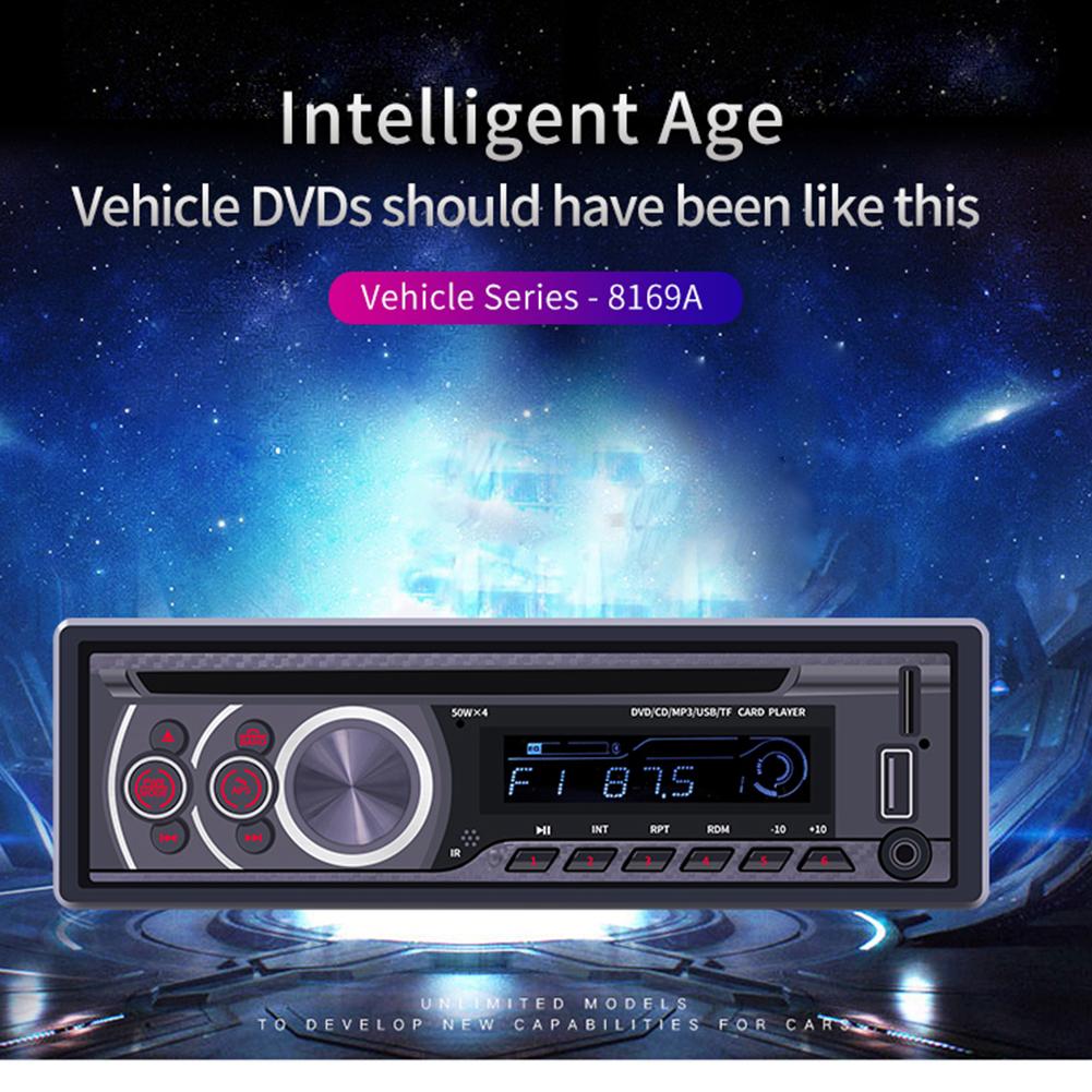 12V Universal Bluetooth U Disk Car Audio Stereo Vehicle Radio MP3 Player CD/DVD/VCD Player black