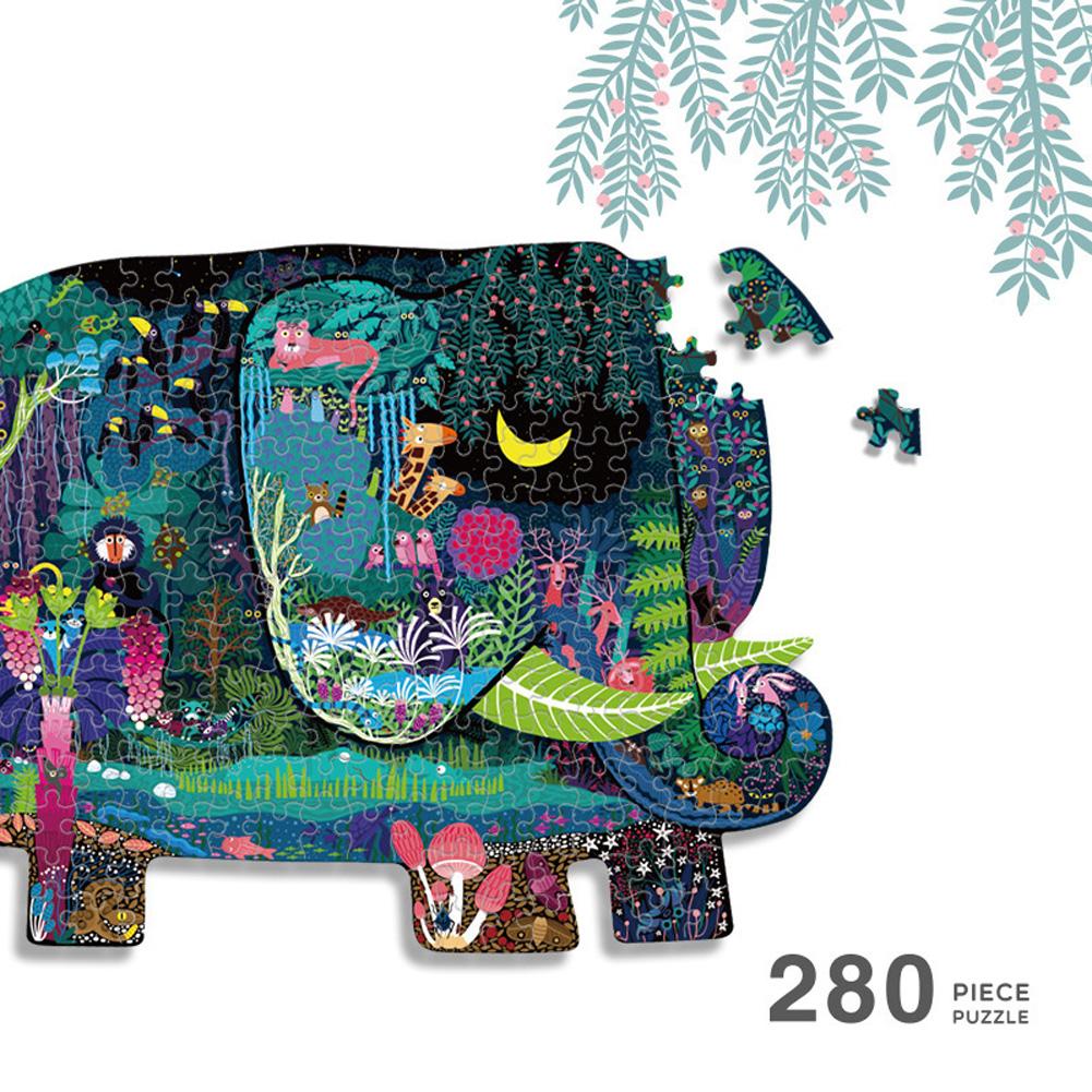 280pcs Jigsaw Puzzle Children Intelligence Dinosaur Elephant Puzzle Paper Early Education Toys Elephant