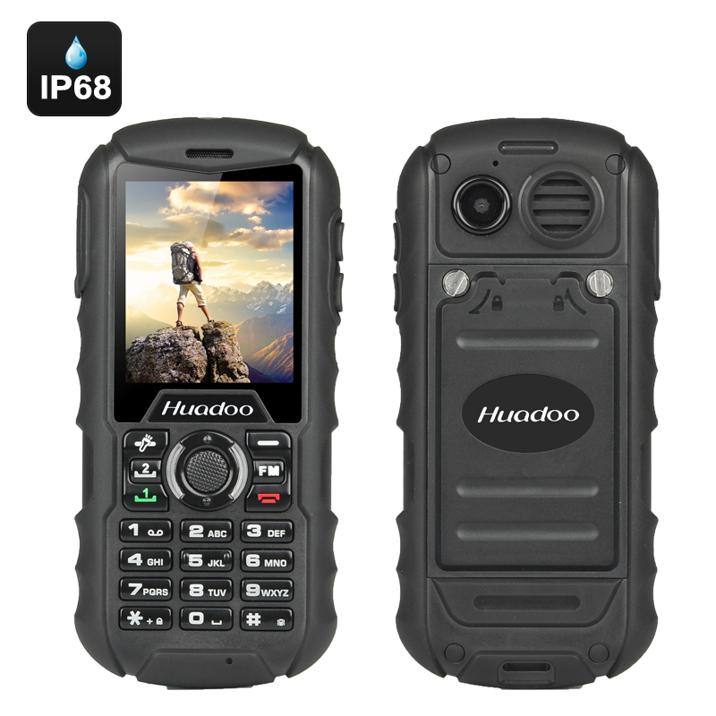 Huadoo H1 IP68 Rugged Cell Phone (Black)