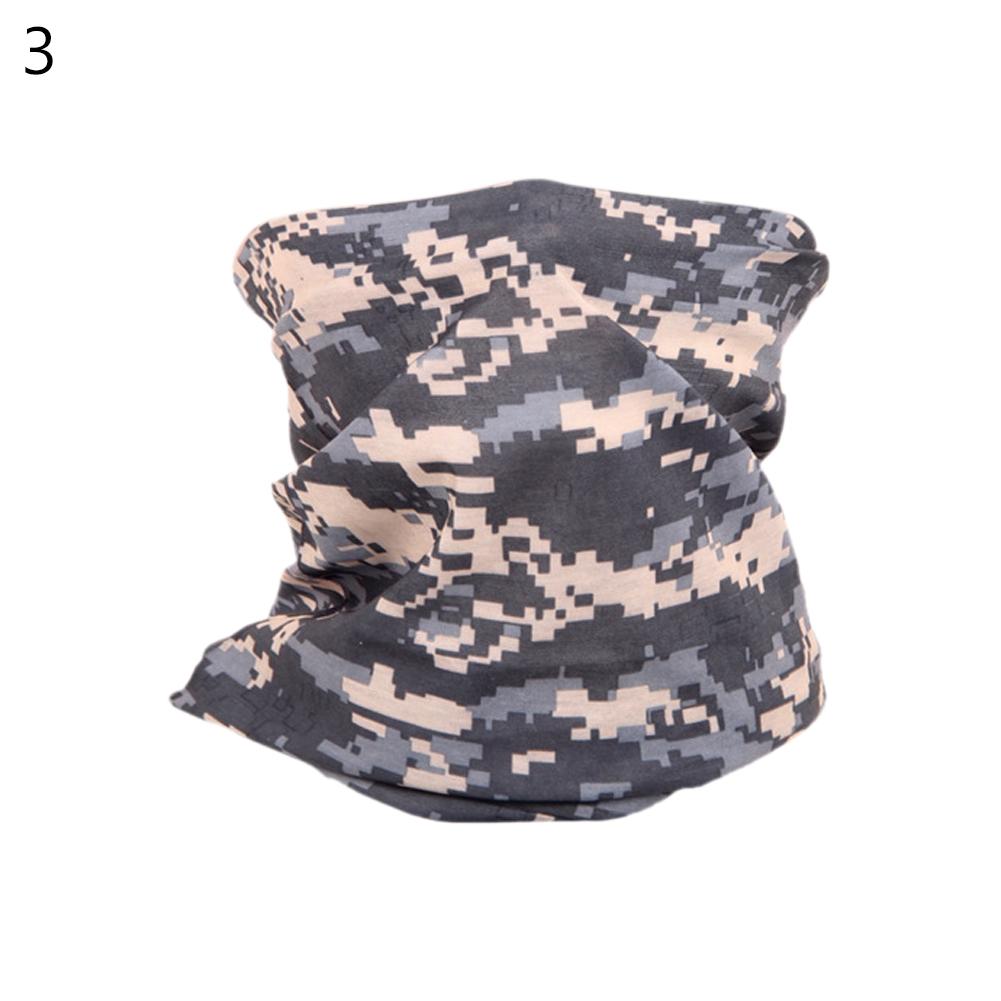 Camouflage Magic Scarf Bandana Neckerchief Outdoor Sunscreen Windproof Riding Headband Mask Turban Wristband ACU_One size