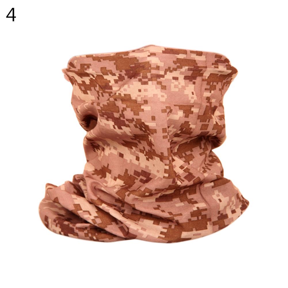 Camouflage Magic Scarf Bandana Neckerchief Outdoor Sunscreen Windproof Riding Headband Mask Turban Wristband Desert Digital_One size