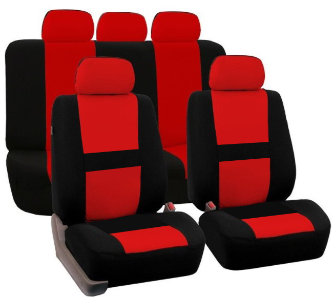 Red 9Pcs Car Seat Covers For SUV