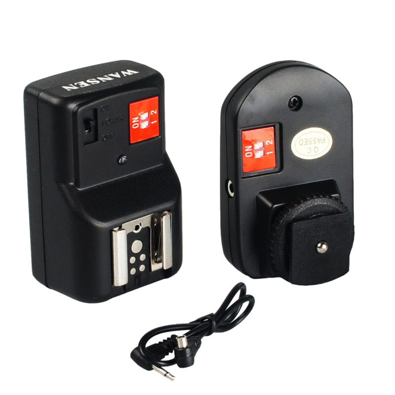 PT-04GY 4 Channels Wireless Radio Flash Trigger Sync Speed 1/250s with Receiver for Canon Nikon Pentax DSLR k5 black