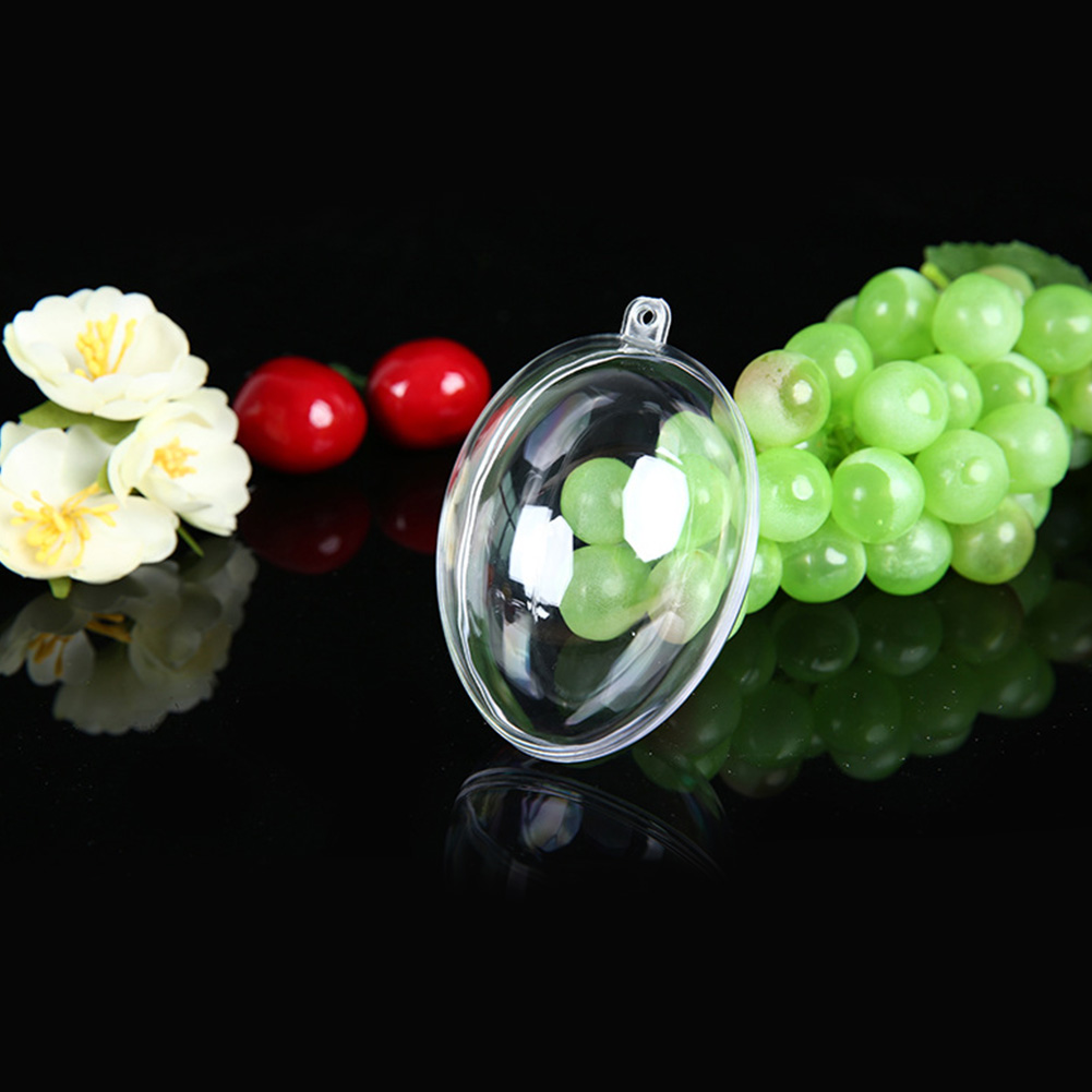 Transparent Color Oval Egg Shape Candy Box for Wedding Party Supplies 63*45mm