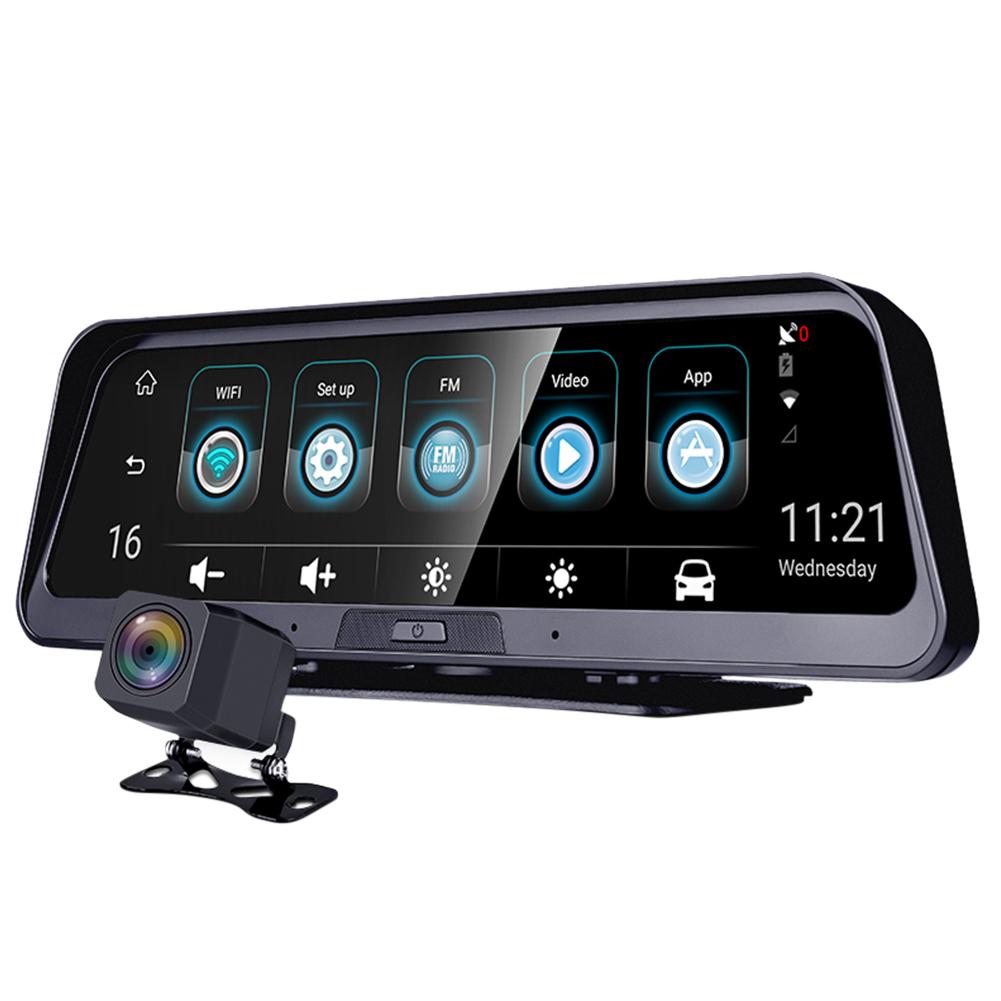 HD Camera Rear View Mirror Camera Mirror Recorder Dash Cam Reversing Navigation 265*84mm black