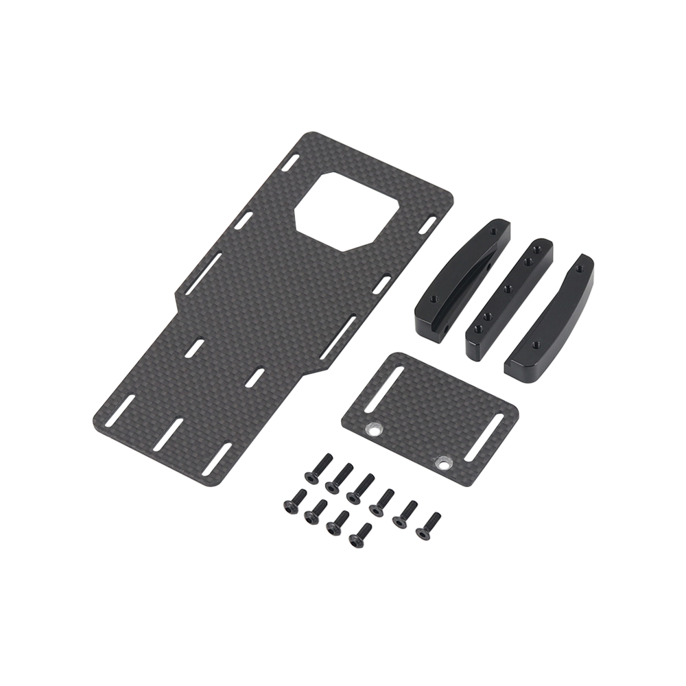 1:10 RC Crawler Low Center Of Gravity Battery Bracket Metal Battery Esc Relocation Plate For Axial SCX10 II Ax90046 RC Car Part black