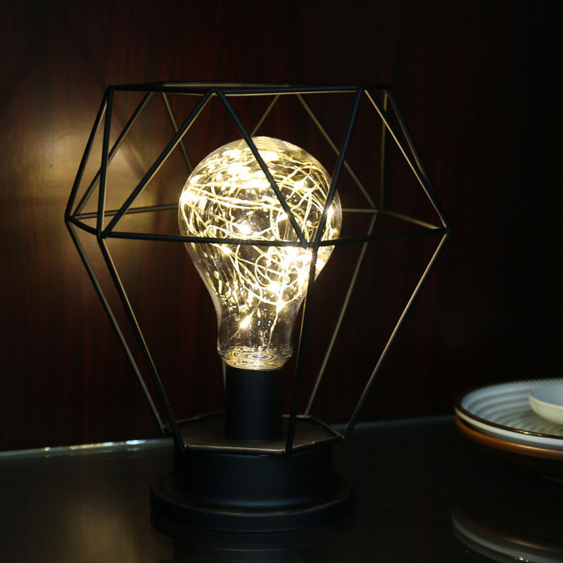 Retro Style Wire Table Lamp