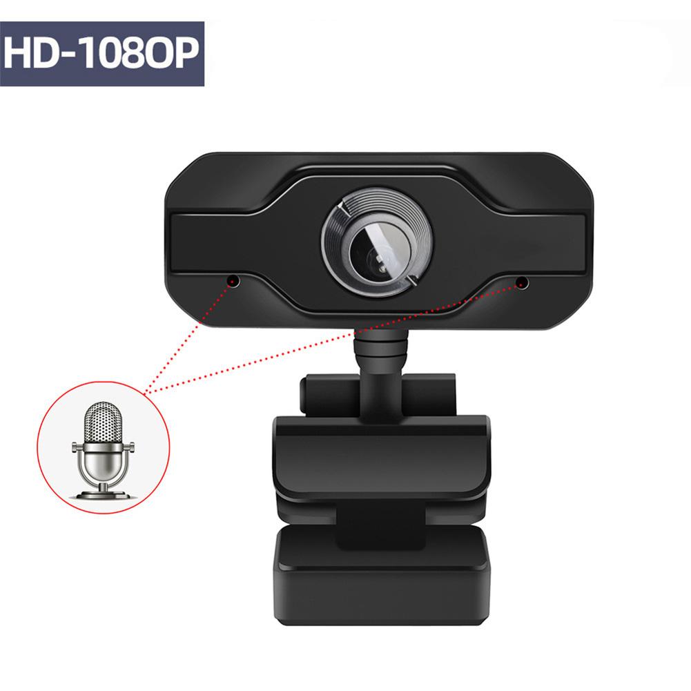 HD Webcam 1920*1080 Noise Cancelling Microphone Mini Computer Camera for Desktop Laptop black