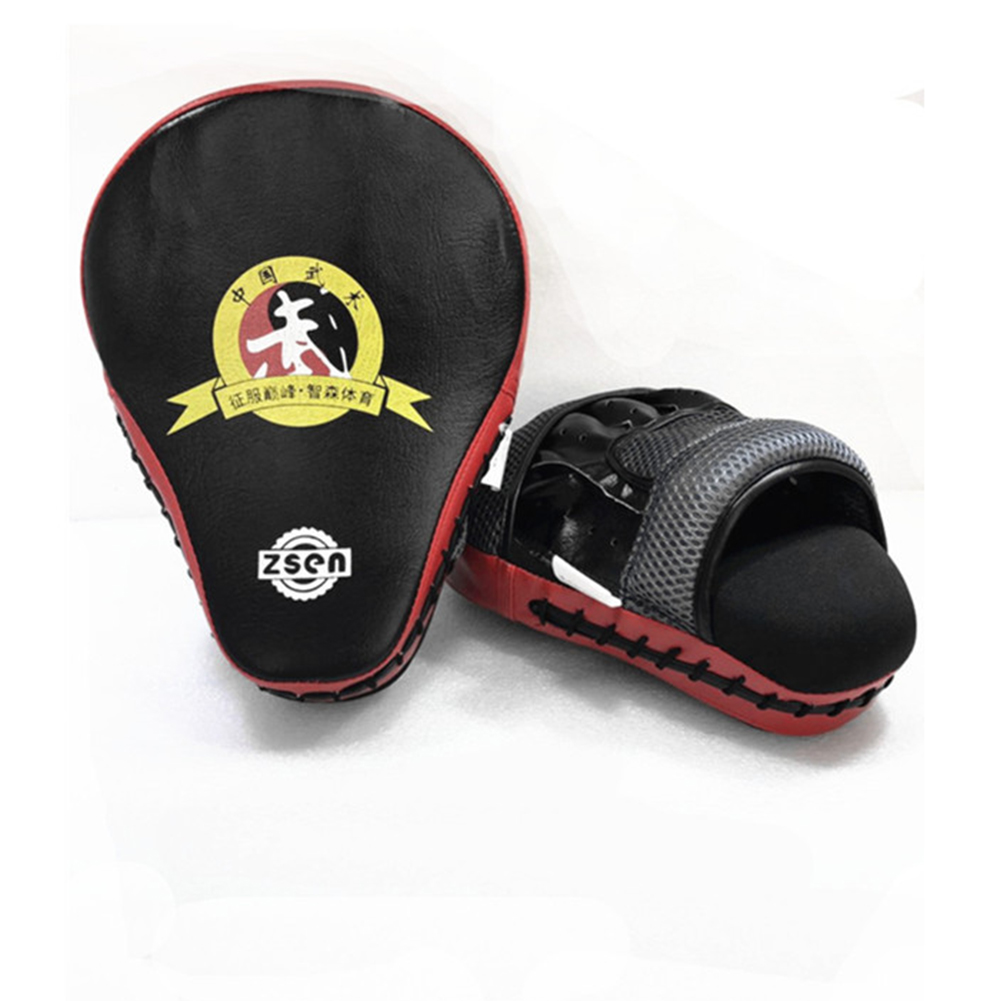Boxing Sandbag Glove PU Leather Arc Fist Target Punch Pad for MMA Boxer Muay Thai Kick Fighting red_standard