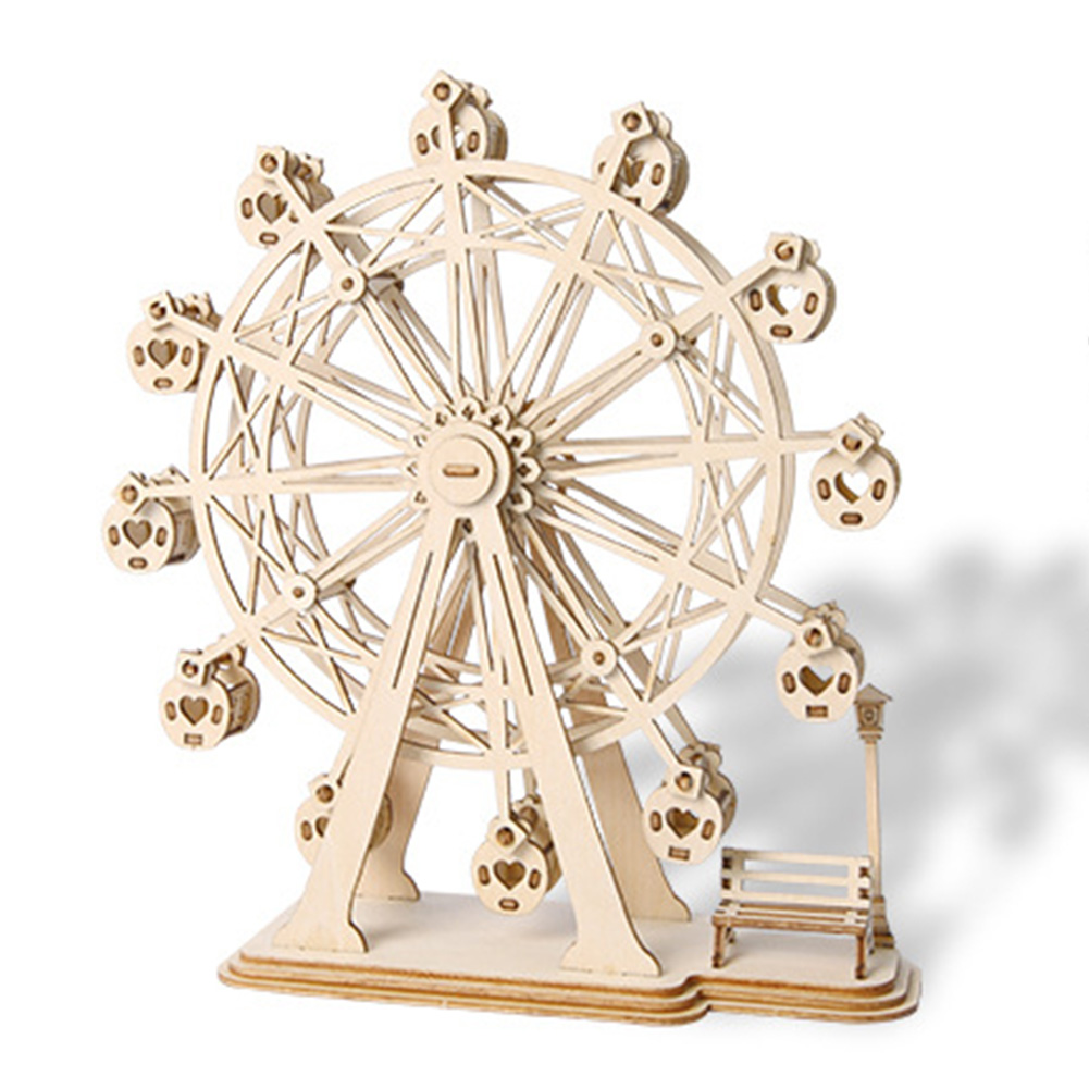 3D Wooden Puzzle Toy DIY Education Toy Wood Craft Kits Desk Decoration for Children Kids