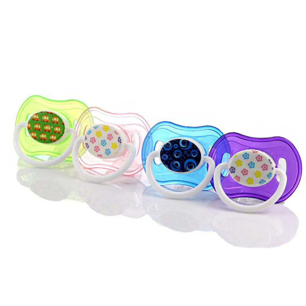 Flat Baby Pacifier Infant Safety Silicone Nipple for Sleeping Play  random color