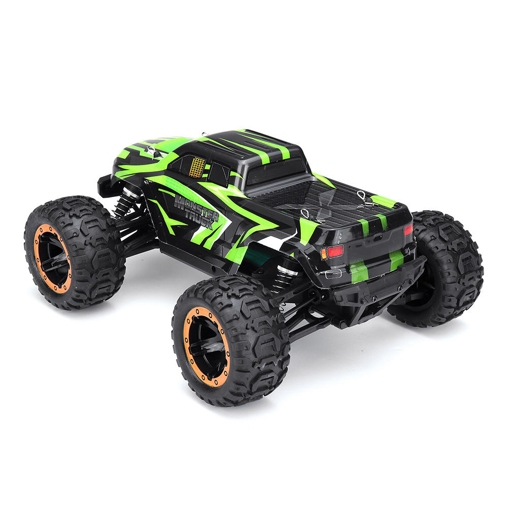 SG1601 1/16 RC Car Brush Motor 2.4GHz 30Km/h High Speed Vehicle Models With Head Light Remote Control Vehicle Models Kids Outdoor Play Toy Green