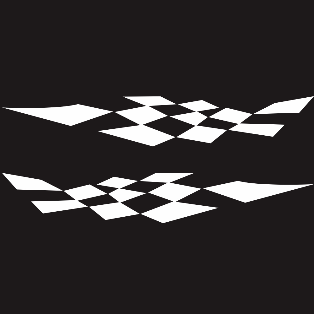 1 Pair Car Stickers Racing Sports Stripe Grid Totem Auto Side Body Decals Car Sticker white