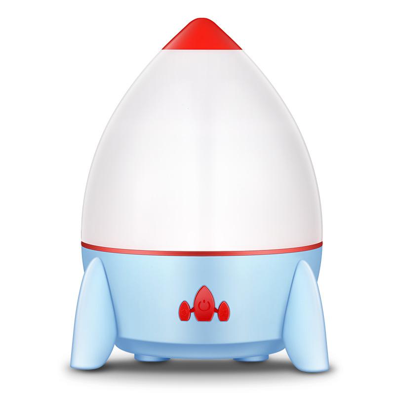 Rocket Projection Lamp Rotating Romantic Atmosphere Light USB Charging LED Night Light blue
