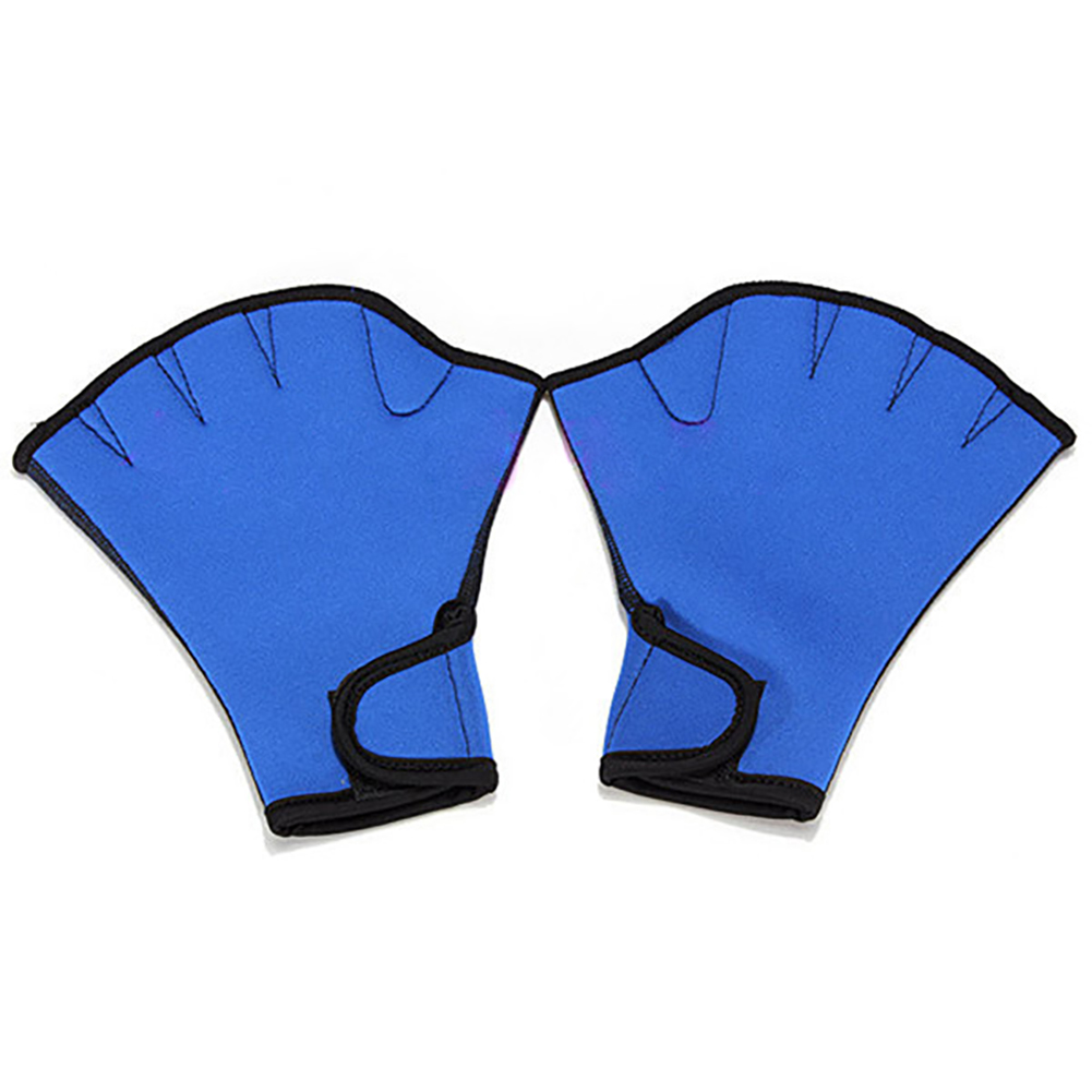 Swimming Diving Hand Paddle Gloves Snorkeling Surfing Scratch-Resistant Waterproof Hand Protection Equipment blue_M