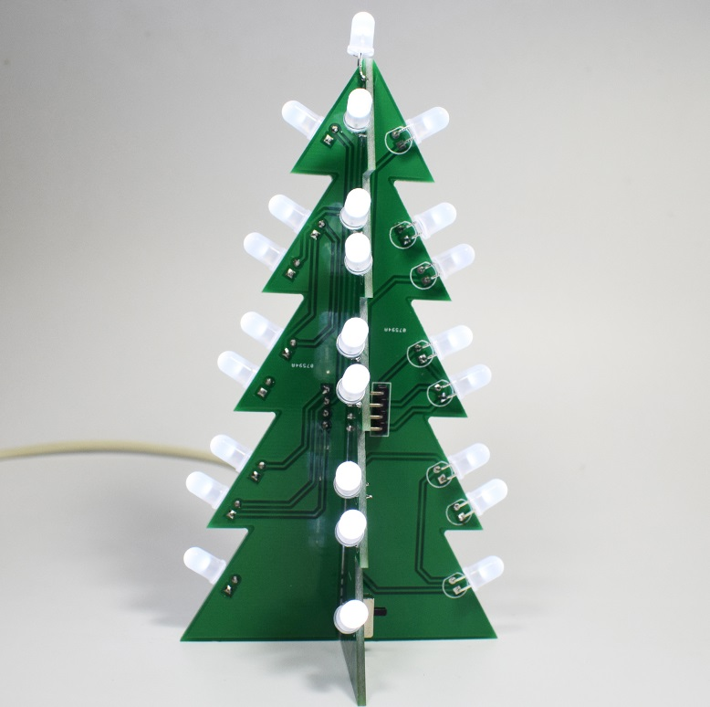 DIY Star Effect 3D LED Decorative Christmas Tree Kit white